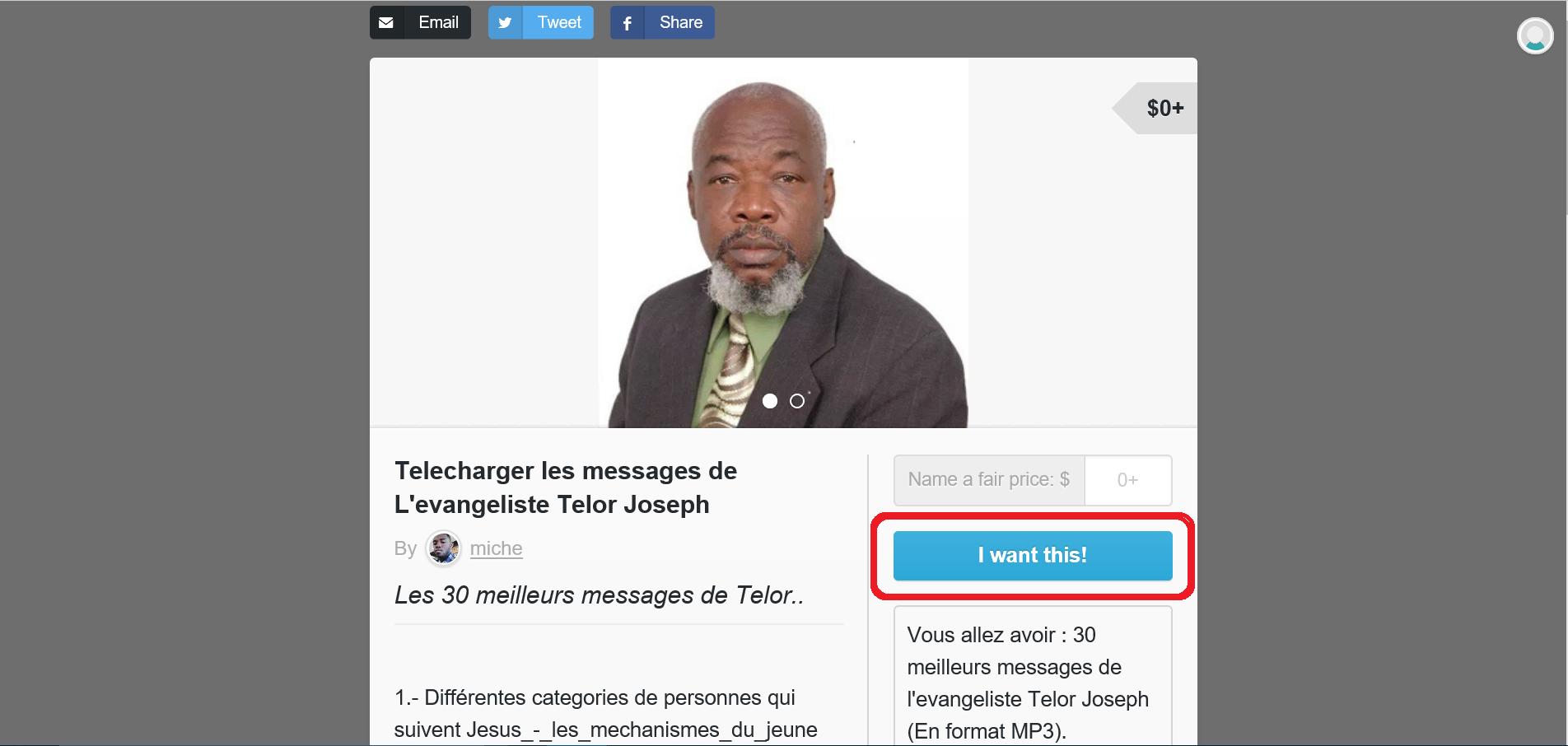 Comment Telecharger les messages de l'evangeliste Telor Joseph - Tutoriel (Screenshot 1)