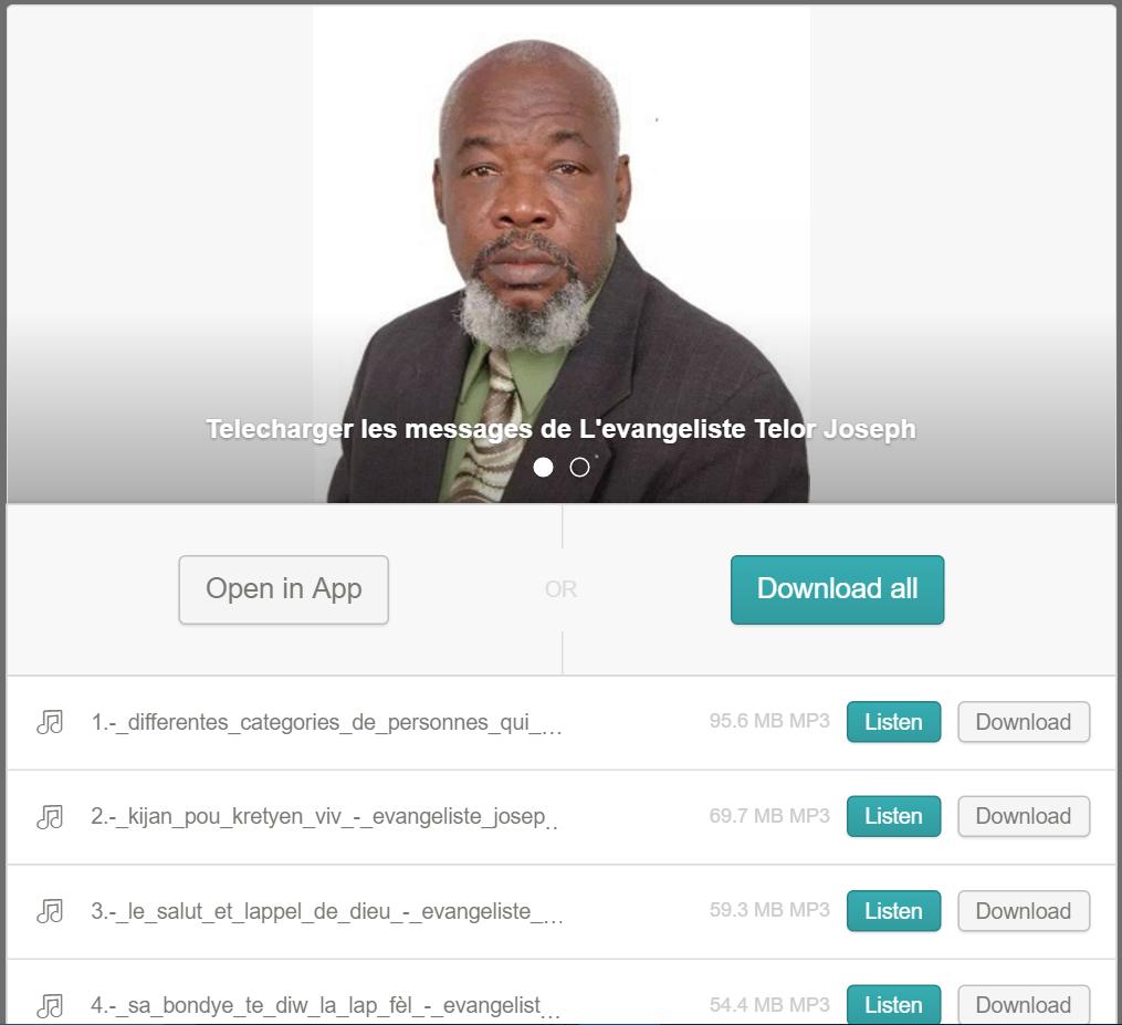 Télécharger les messages de l'evangeliste Telor Joseph - Tutoriel - Screenshot 10