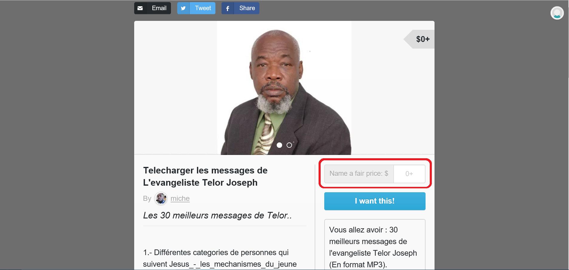 Télécharger les messages de l'evangeliste Telor Joseph - Tutoriel - Screenshot 2